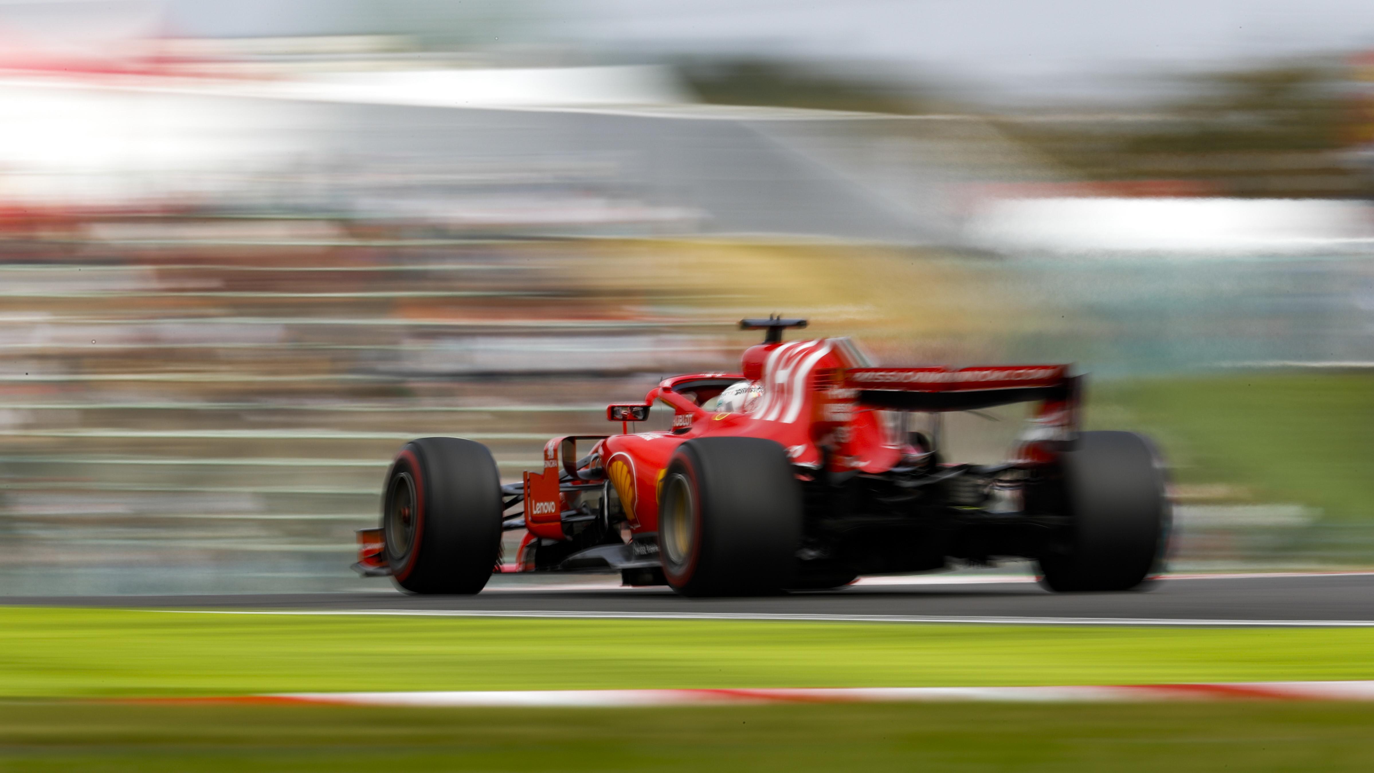 Sebastian Vettel im Ferrari beim Qualifying in Suzuka