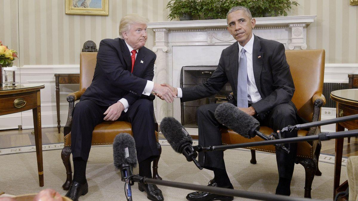 Trump und Obama im Jahr 2016
