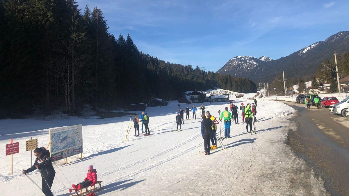 Langlaufgebiet bei Klais/Garmisch-Partenkirchen