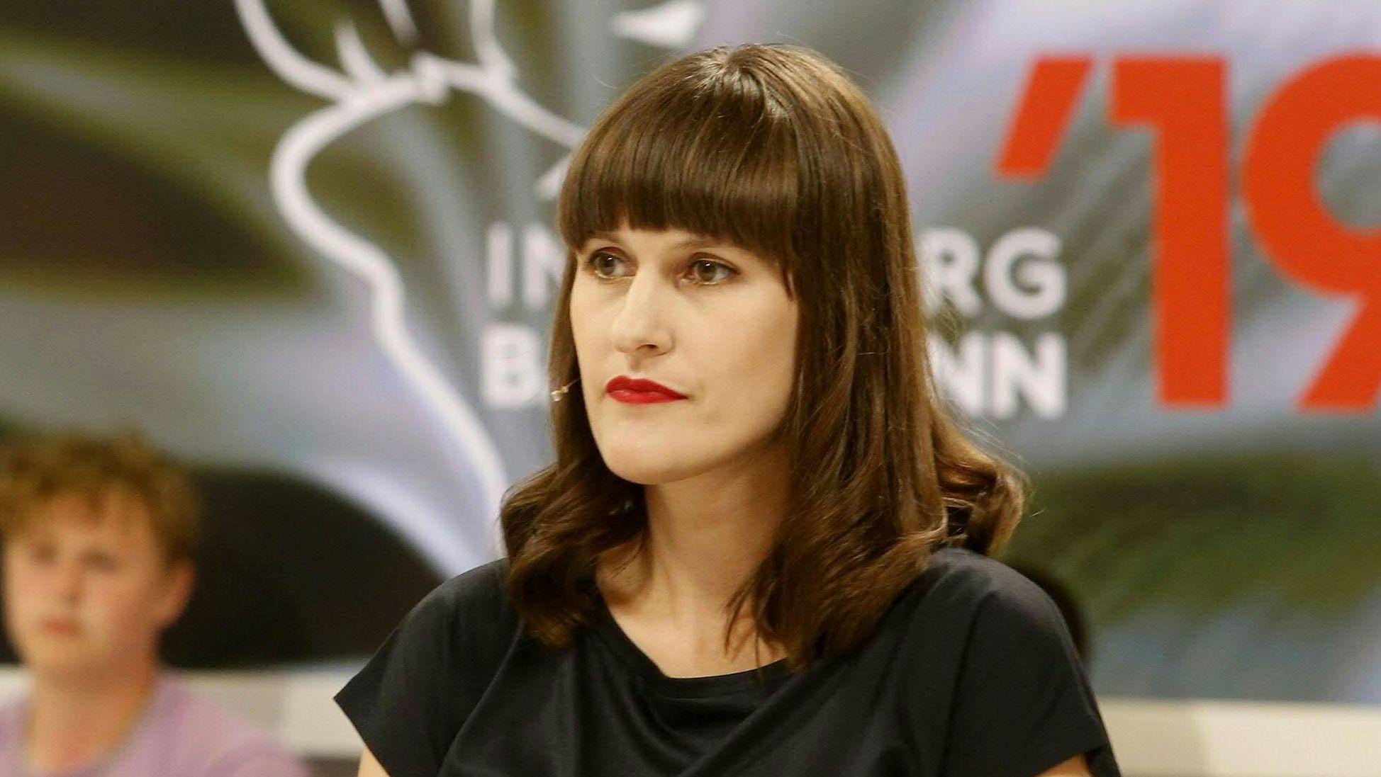Katharina Schultens am ersten Wettlese-Tag in Klagenfurt