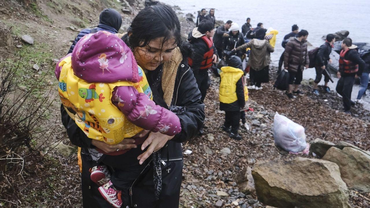 Migranten an der griechisch-türkischen Grenze