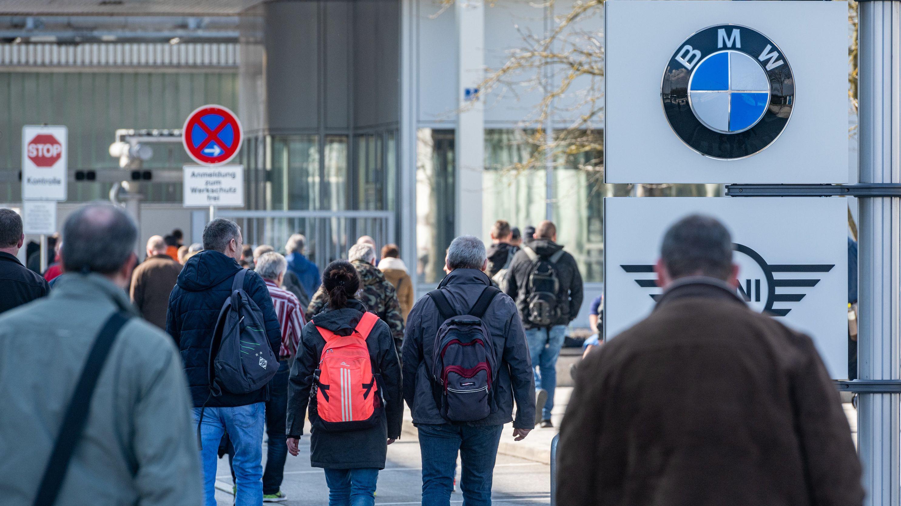 Schichtwechsel im BMW-Werk Dingolfing