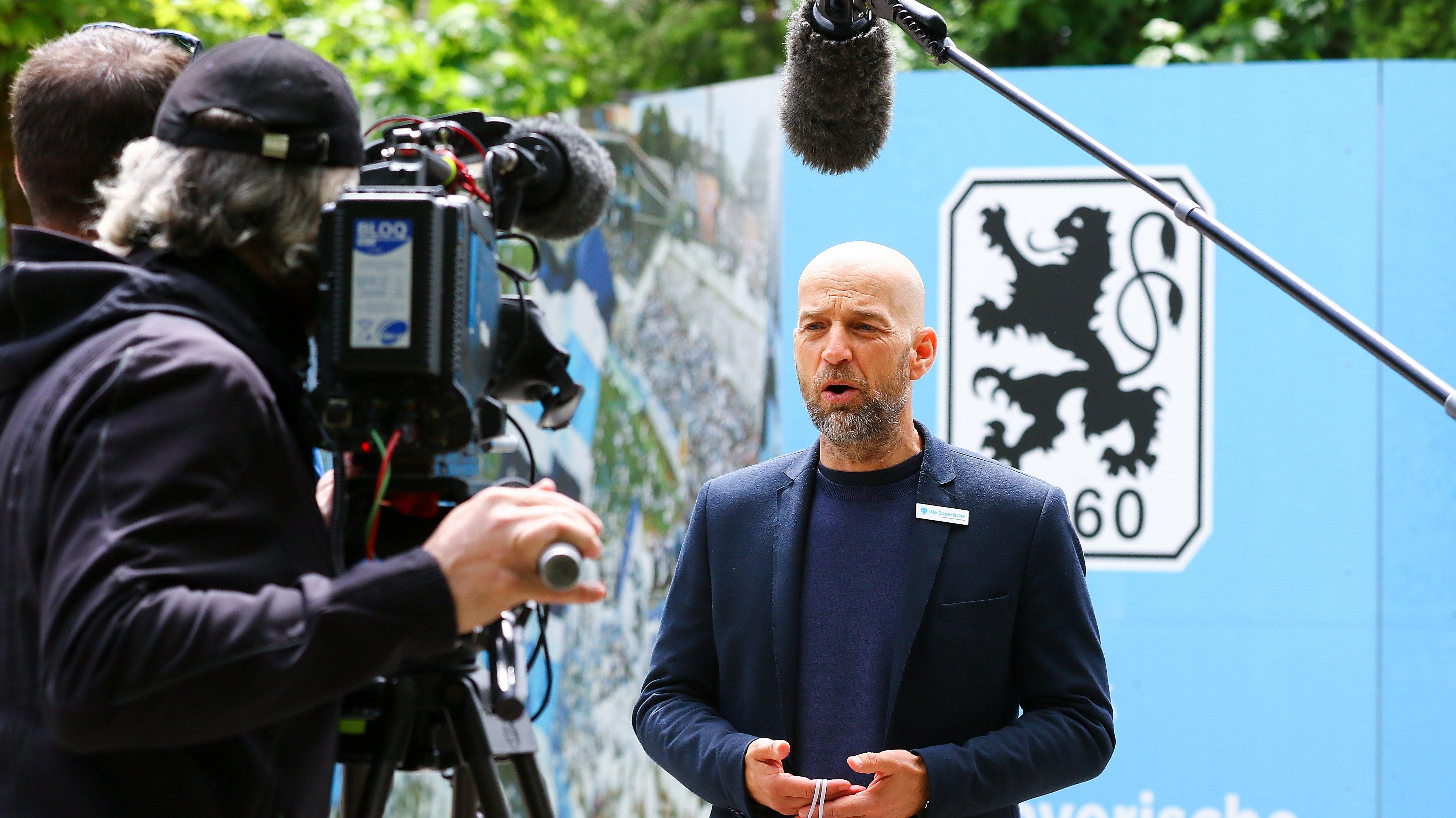 Günther Gorenzel, Geschäftsführer beim TSV 1860 München, beim Interview mit BR24 Sport