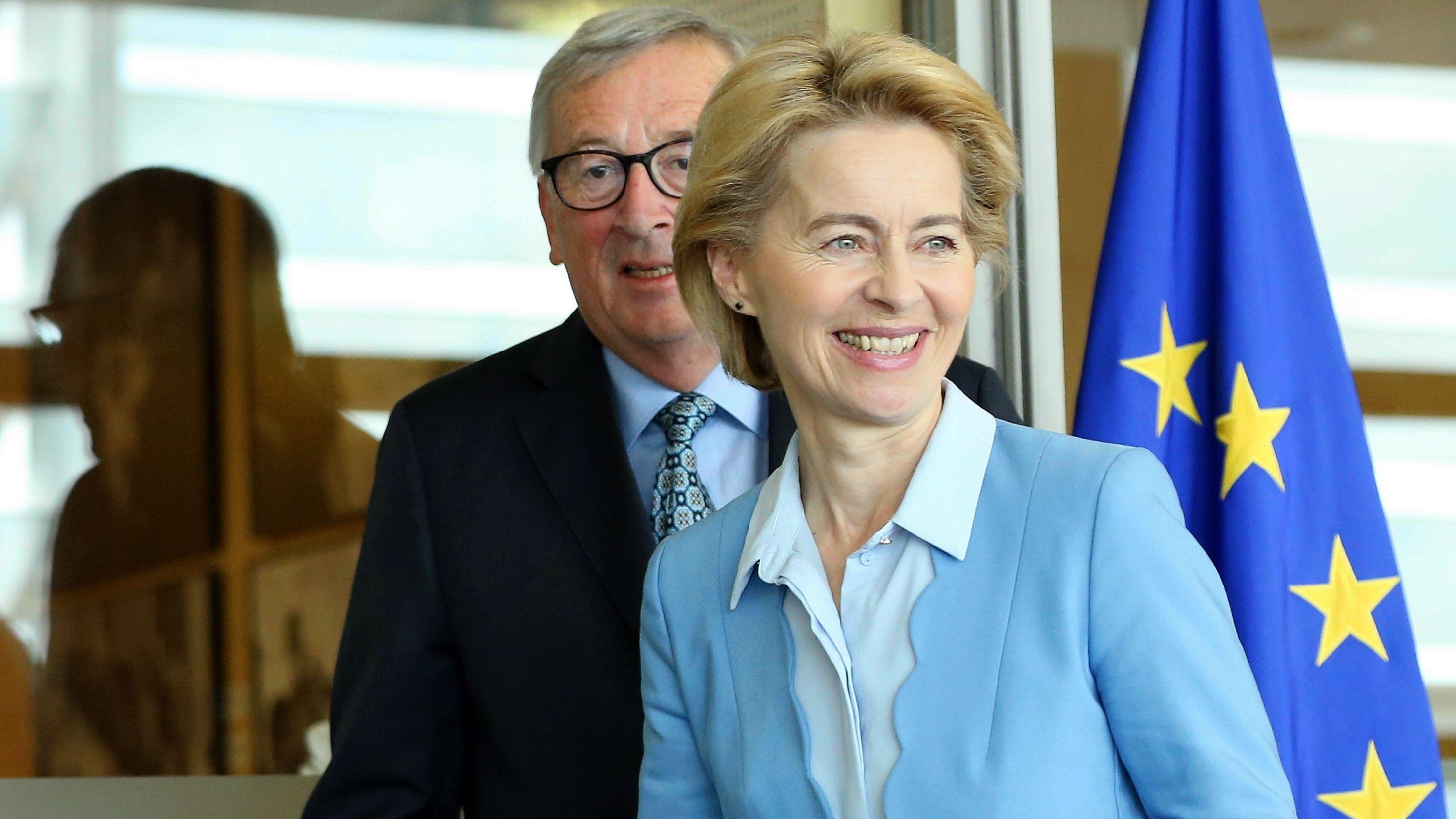 Jean-Claude Juncker und Ursula von der Leyen bei einem Treffen in Brüssel, am 09. September.