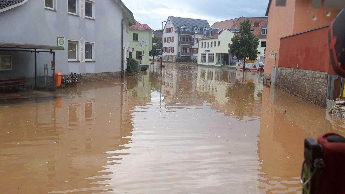 Hochwasser in Reichenberg