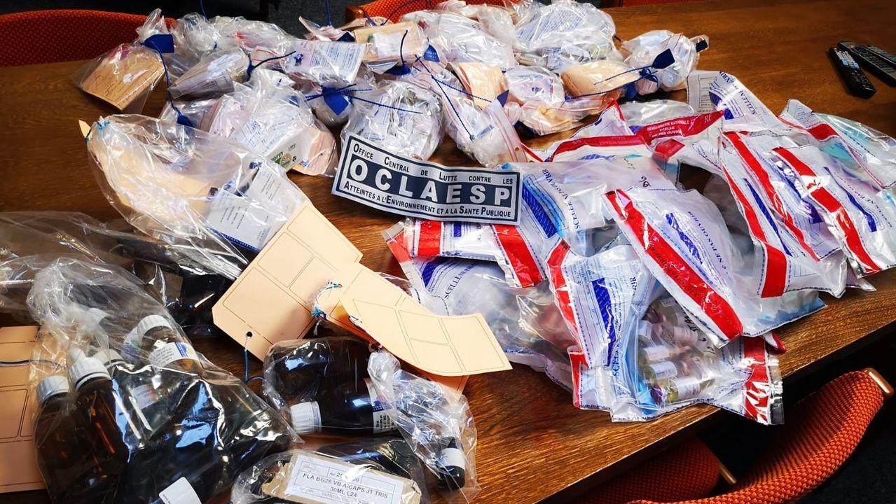 Anti-Doping-Razzia - Beschlagnahmte Dopingmittel