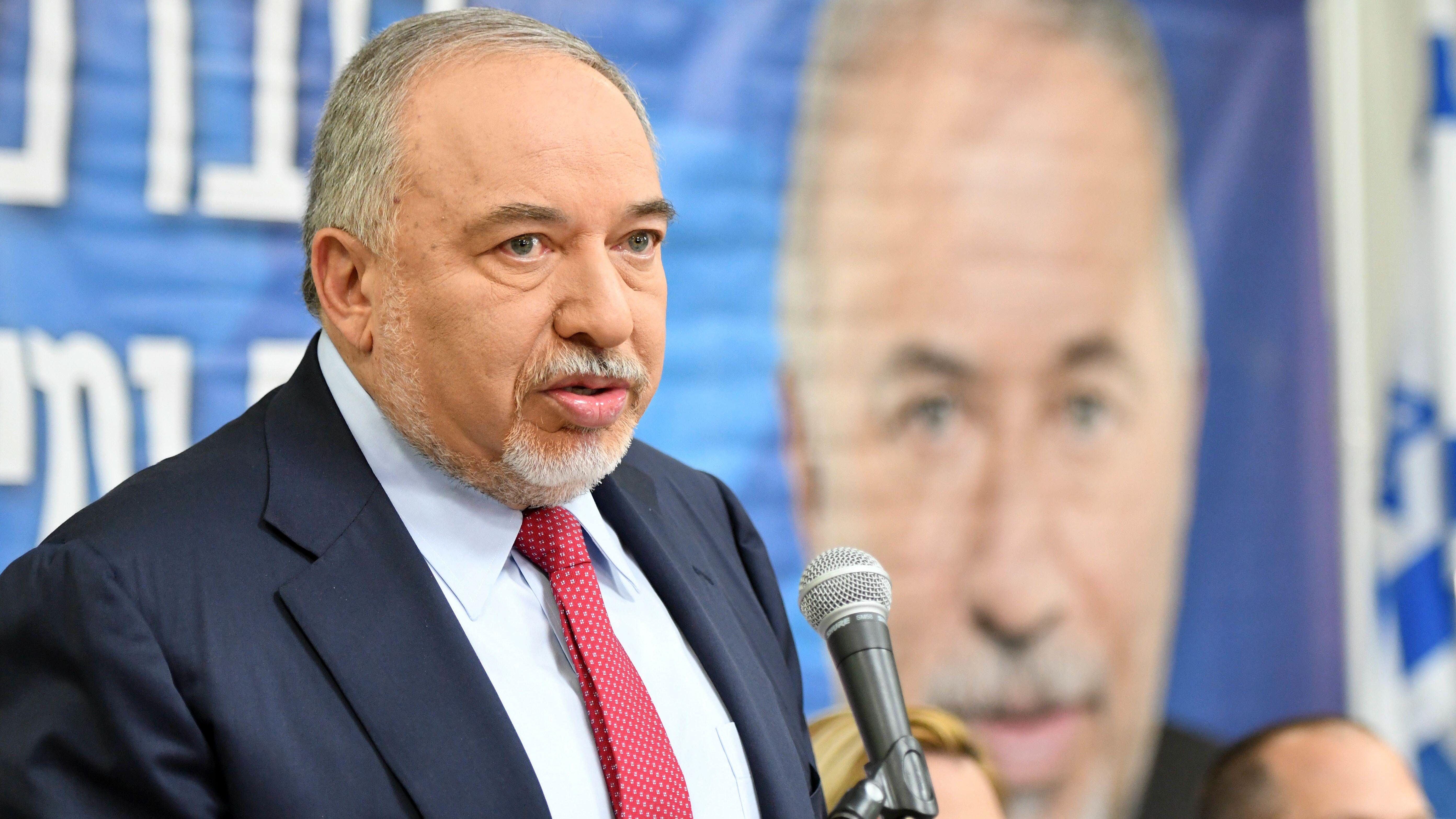 Der israelischer Politiker Avigdor Lieberman