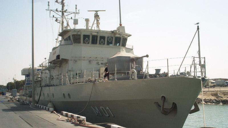 Minenjagdboot der Frankenthal-Klasse. Dieser Typ wird von den Vereinigten Arabischen Emiraten eingesetzt.