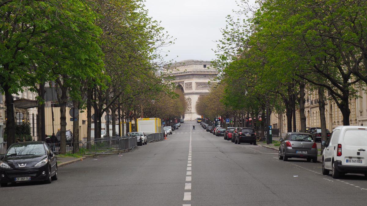 Ausgangsbeschränkung in Paris