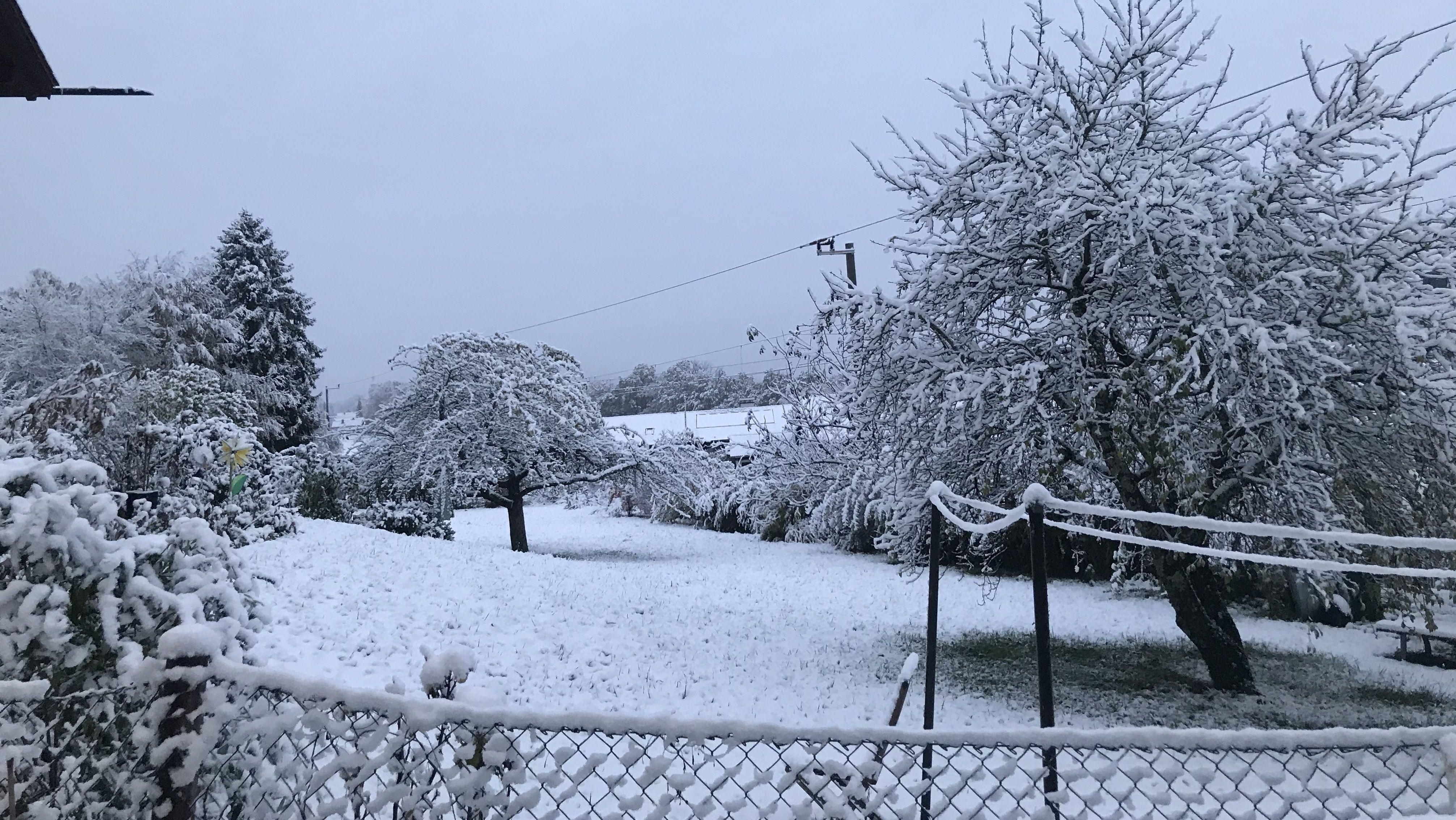 Schnee in Murnau