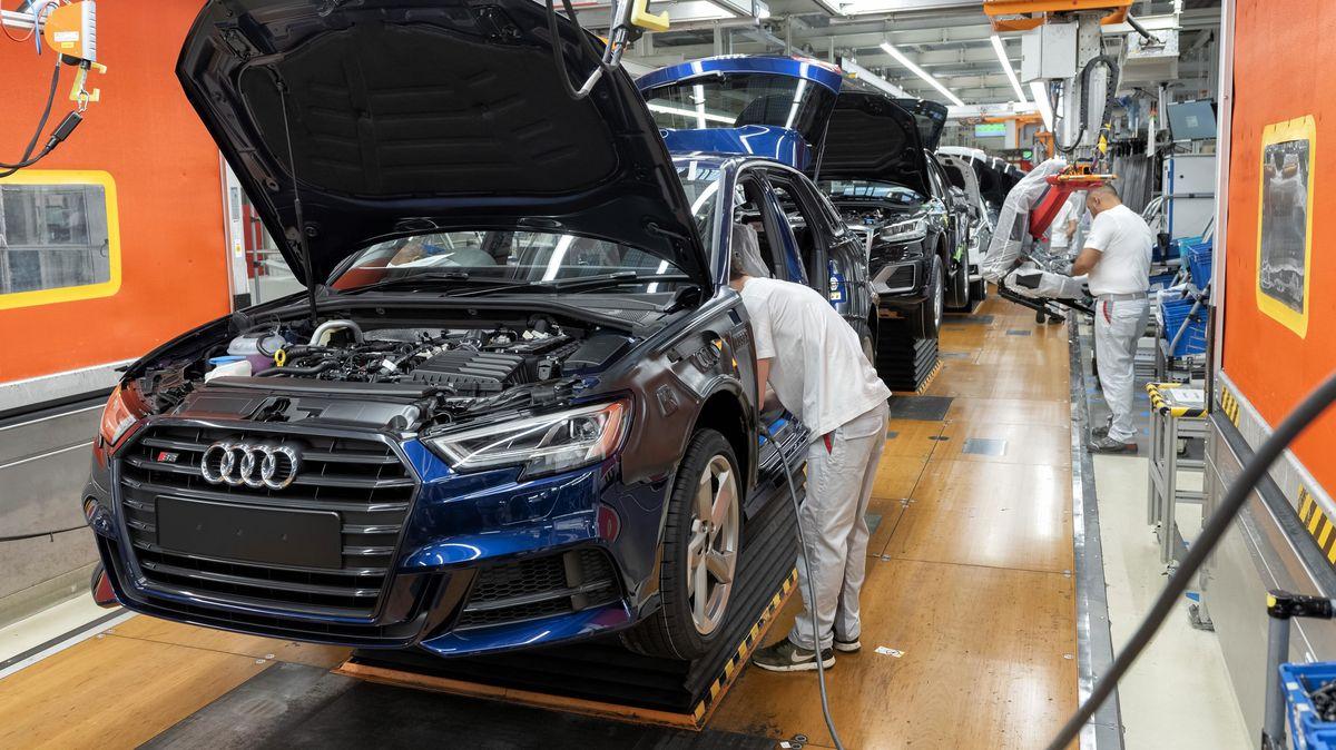 Montage des Audi A3 im Werk Ingolstadt