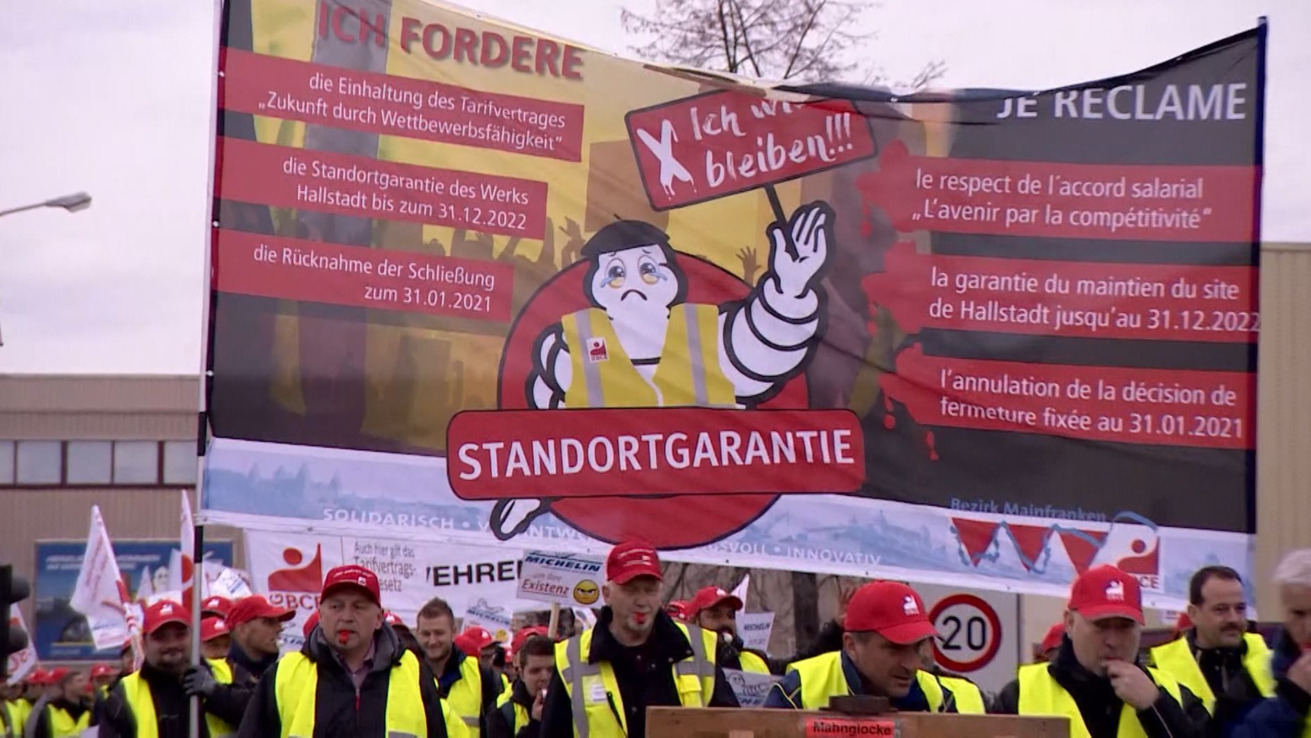 Protest bei Michelin