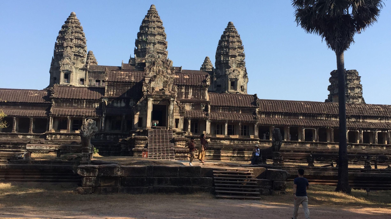 Angkor Wat, die bekannteste Tempelanlage in Kambodscha, droht zu zerfallen.