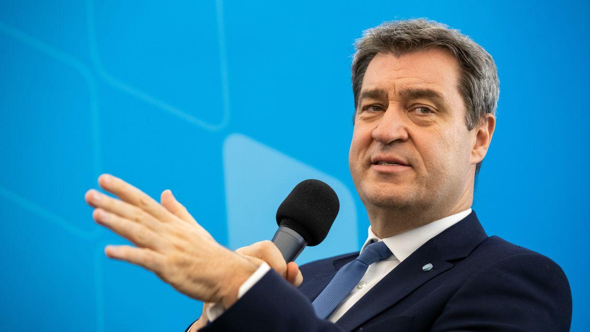 Markus Söder (CSU), Ministerpräsident von Bayern, spricht auf einer CSU-Veranstaltung.