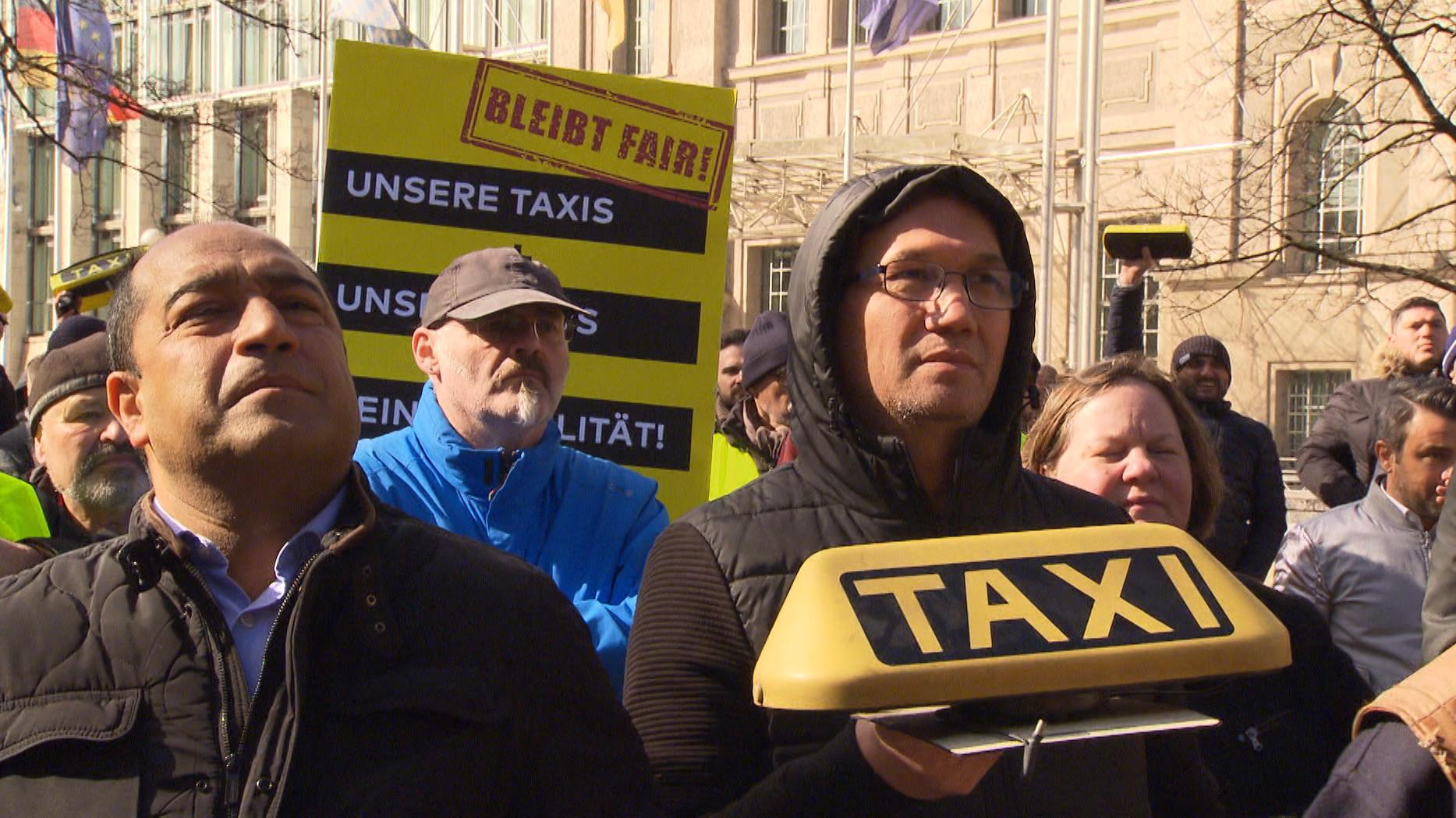 Protest der Taxifahrer