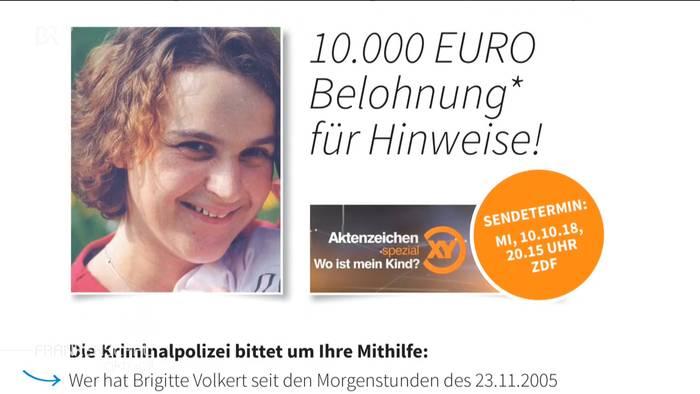 Neue Hinweise Fall Brigitte Volkert Bei Aktenzeichen Xy