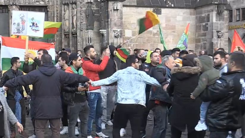 Kurdendemo in Nürnberg