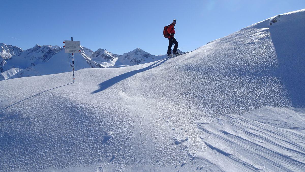 Ein Skitourengeher