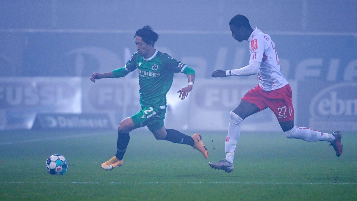 Spielszene im Regensburger Nebel