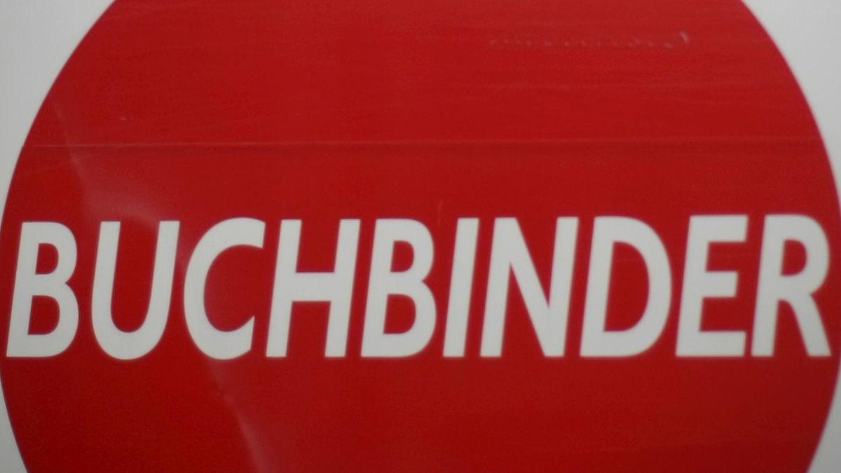 Buchbinder-Logo auf einem Lkw