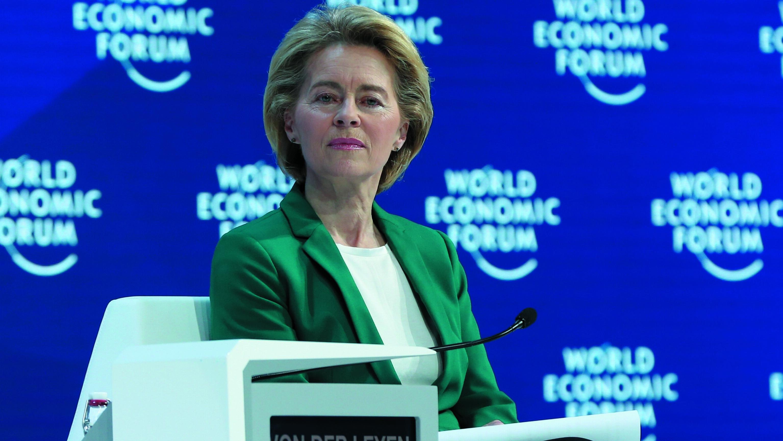 EU-Kommissionspräsidentin Ursula von der Leyen beim Weltwirtschaftsforum in Davos