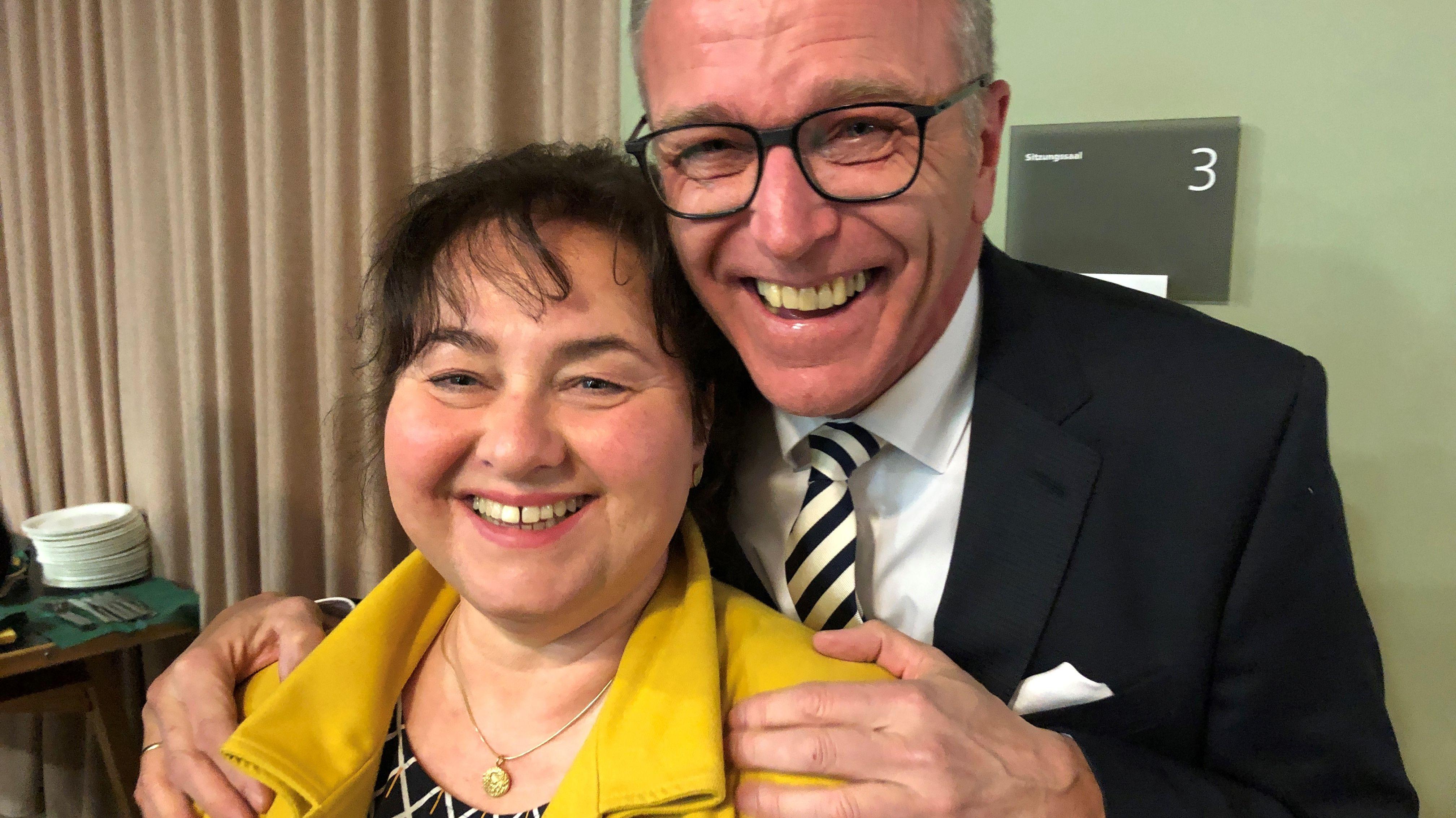 Franz Stahl (CSU), Tirschenreuther Bürgermeister mit seiner Frau.
