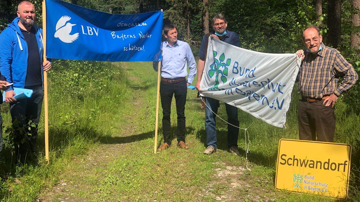 Naturschützer protestieren in Teublitz