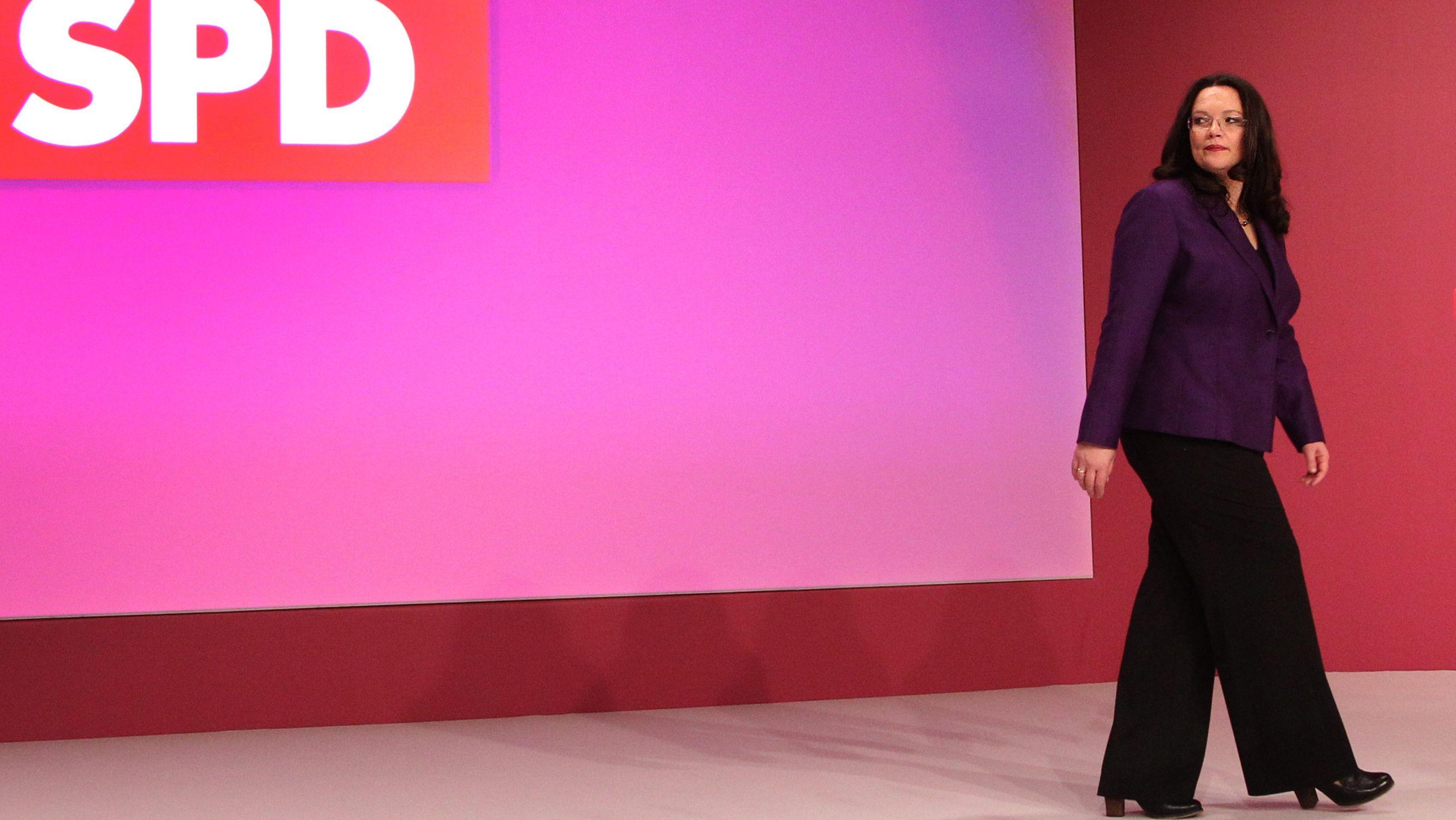 SPD-Parteivorsitzende Andrea Nahles