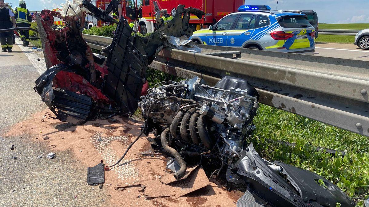 Schwerer Unfall auf der A7