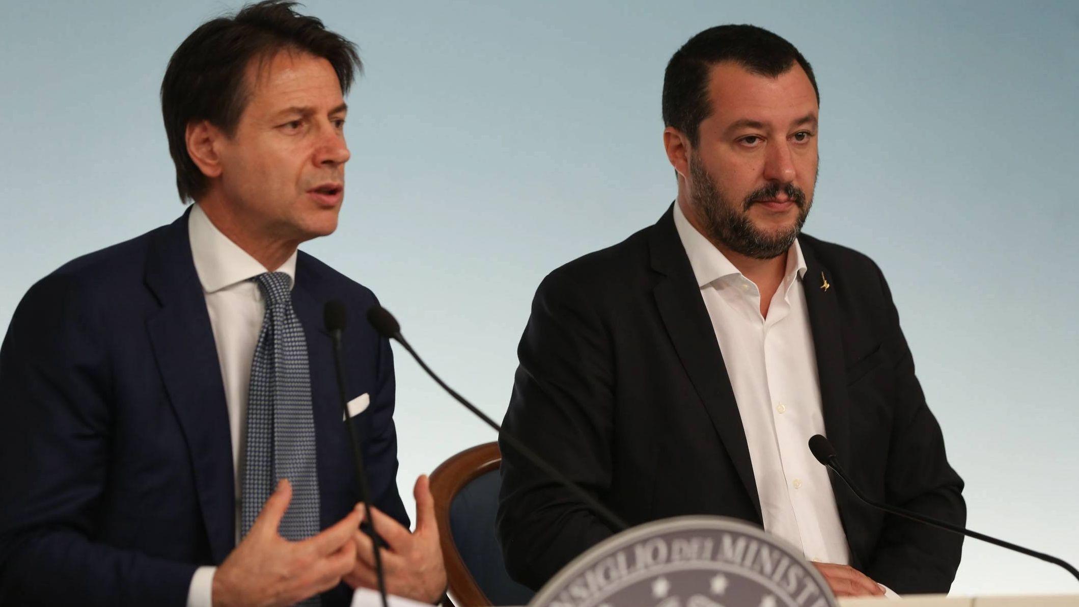 Regierungschef Giuseppe Conte und Innenminister Matteo Salvini