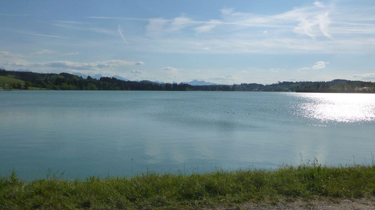 Blick auf den Lechsee im Sommer
