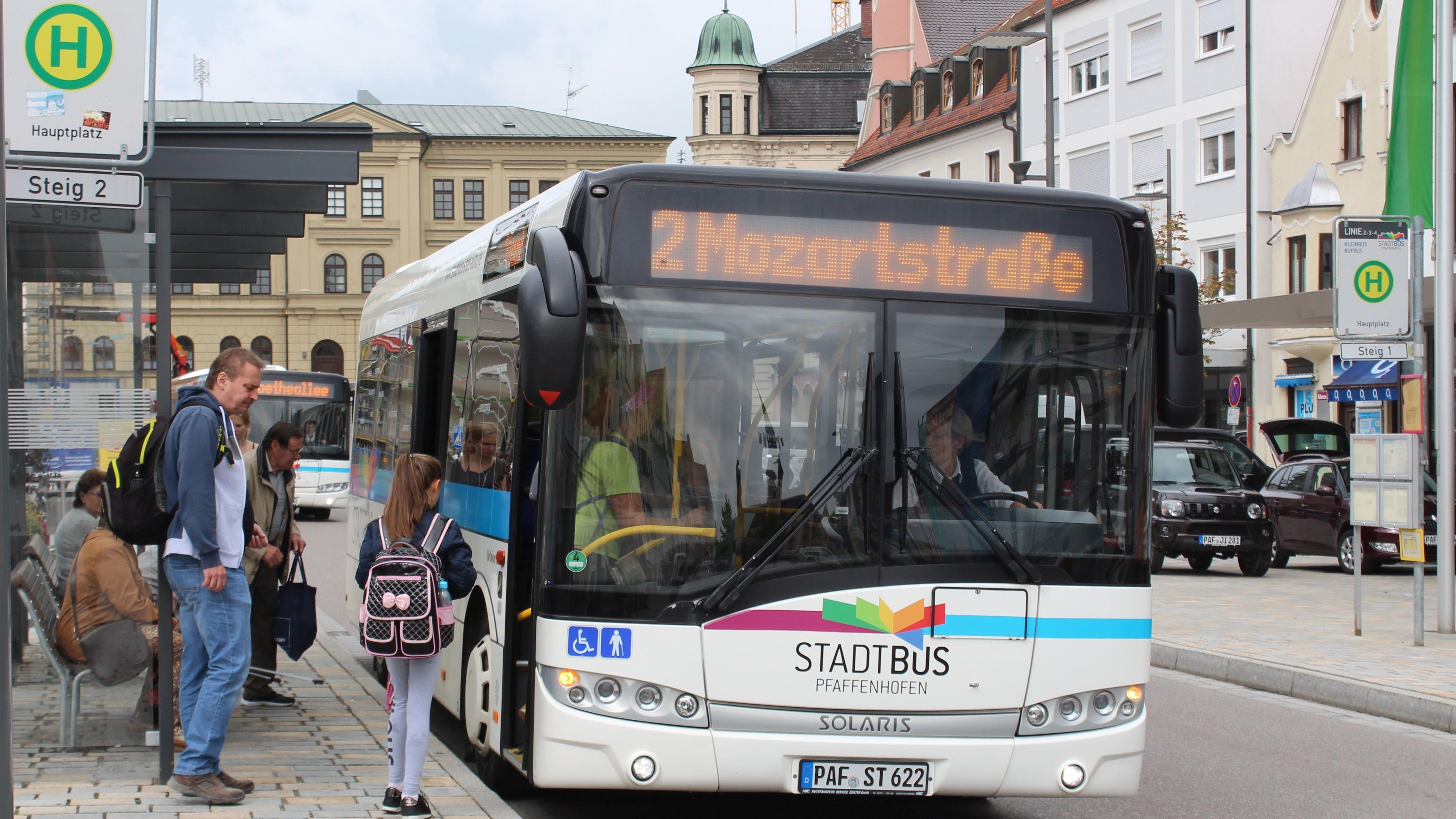 Kostenloser Stadtbus in Pfaffenhofen.