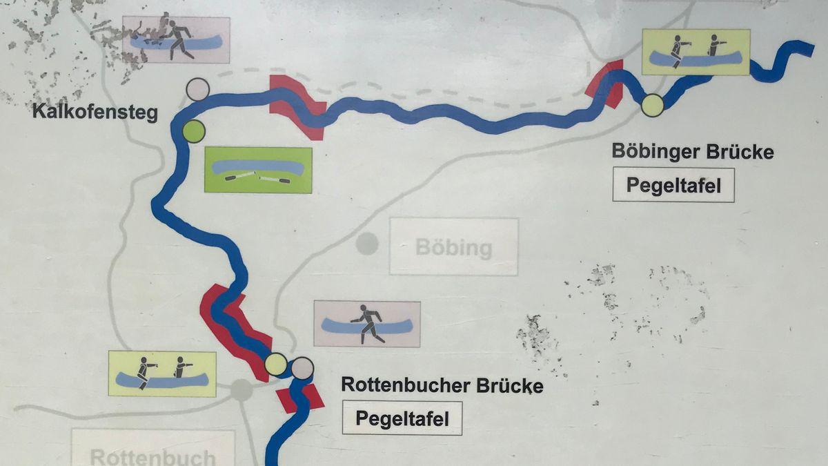 Für Kajakfahrer gibt es entlang der Ammer Zonen, an denen sie nicht fahren oder nur ein- und aussteigen dürfen.