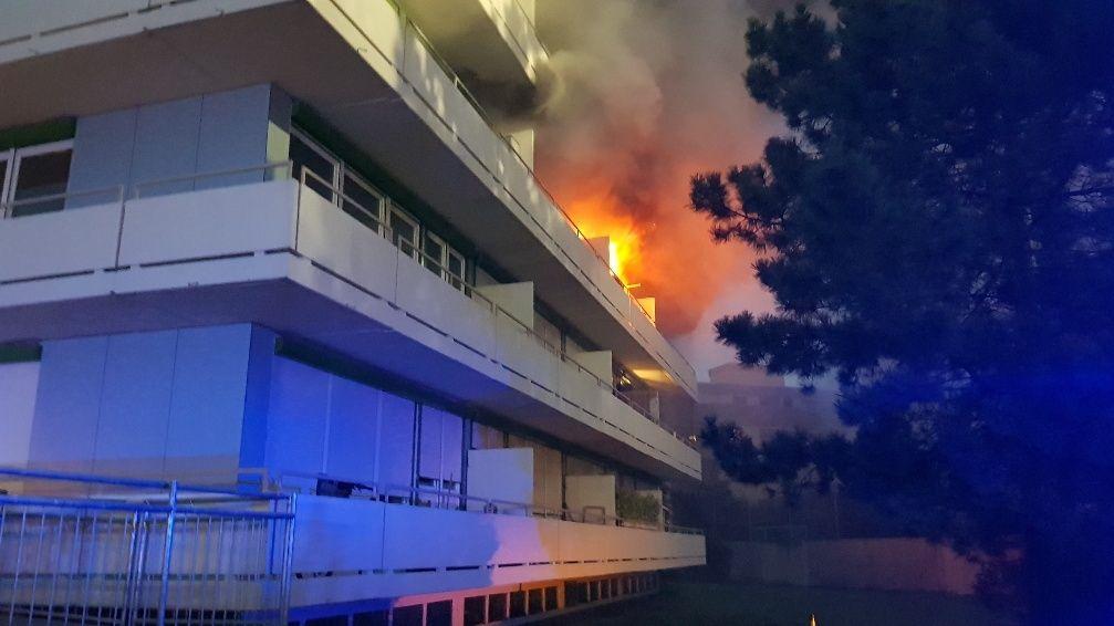 Wohnungsbrand in Augsburg.