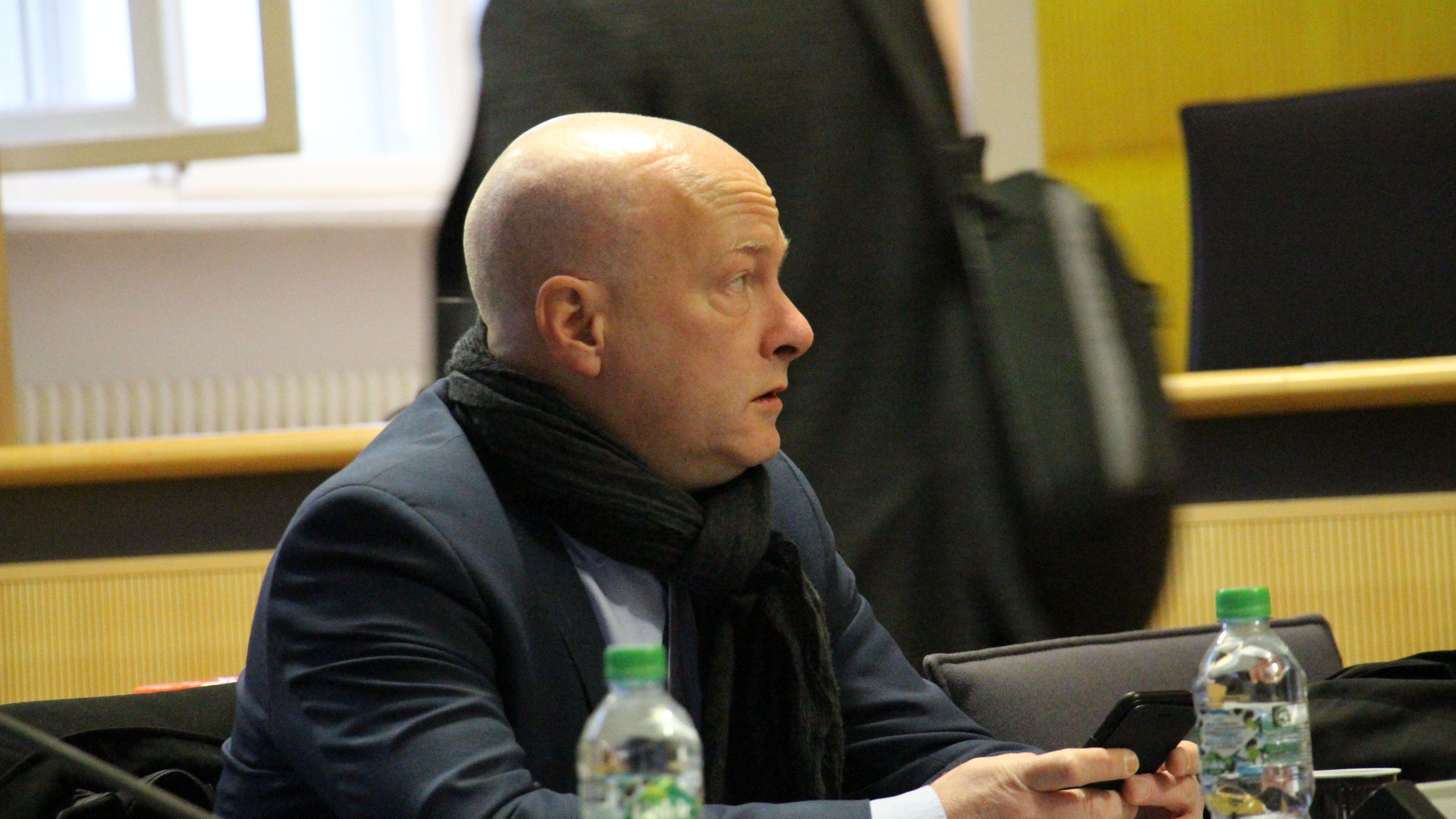 Der ehemalige Regensburger Oberbürgermeister Joachim Wolbergs im Gerichtssaal