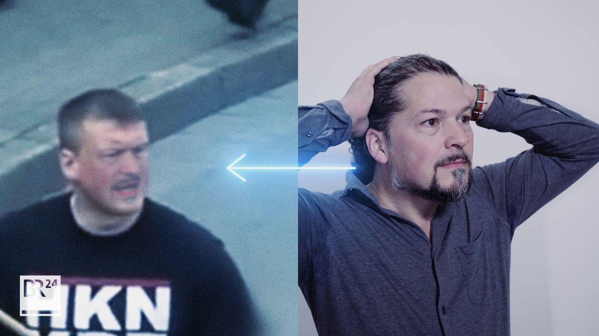 BR-Mitarbeiter Miro Weber in real und als Deep Fake-Imitation.
