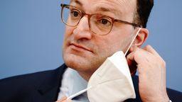 Bundesgesundheitsminister Spahn mit FFP2-Maske | Bild:dpa-Bildfunk/Kay Nietfeld