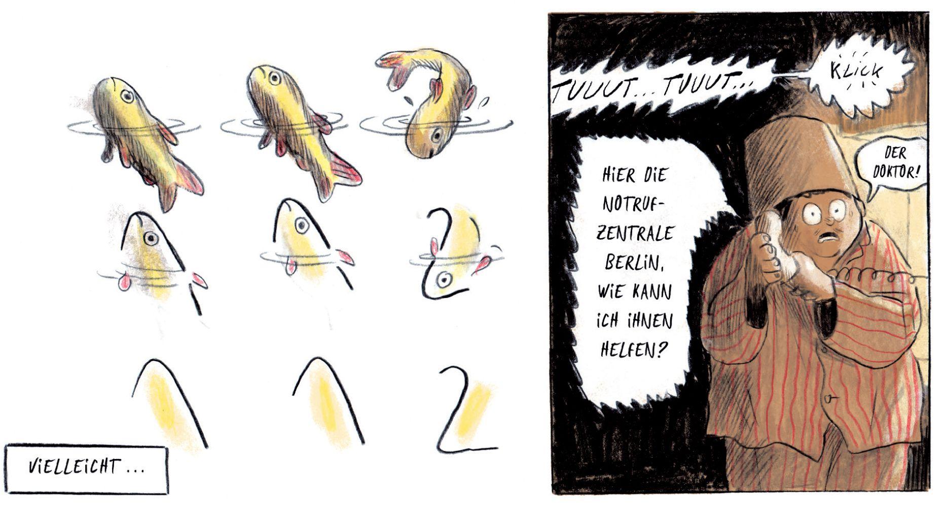"""Szene aus Mikaël Ross' Comic """"Der Umfall"""". Die Geschichte von Noel, der in einem inklusiven Dorf lebt, wurde mit dem Max und Moritz-Preis für den besten deutschsprachigen Comic ausgezeichnet."""