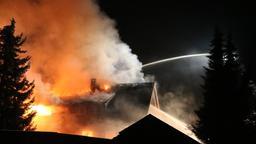 Feuer auf Bauernhof im Oberallgäu | Bild:dpa-bildfunk/liss