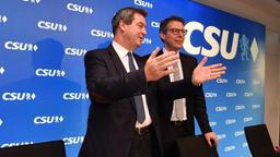 München, Januar 2018: CSU-Vorstandssitzung mit Ministerpräsident Söder und Generalsekretär Blume | Bild:pa/dpa/Frank Hoermann/SVEN SIMON
