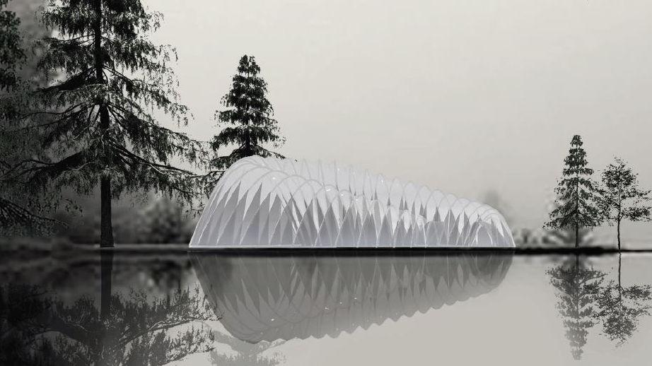 Der Entwurf eines temporären Pavillons in Franzensbad (Tschechien)