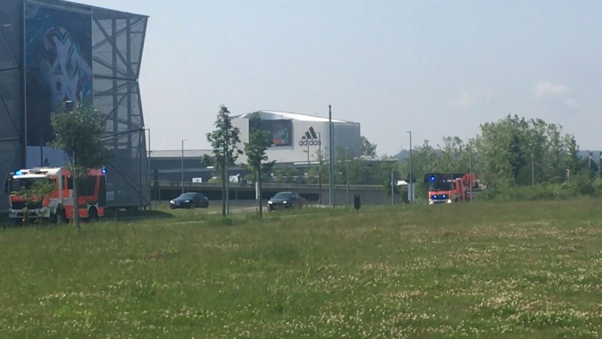 Feueralarm auf dem Adidas-Campus