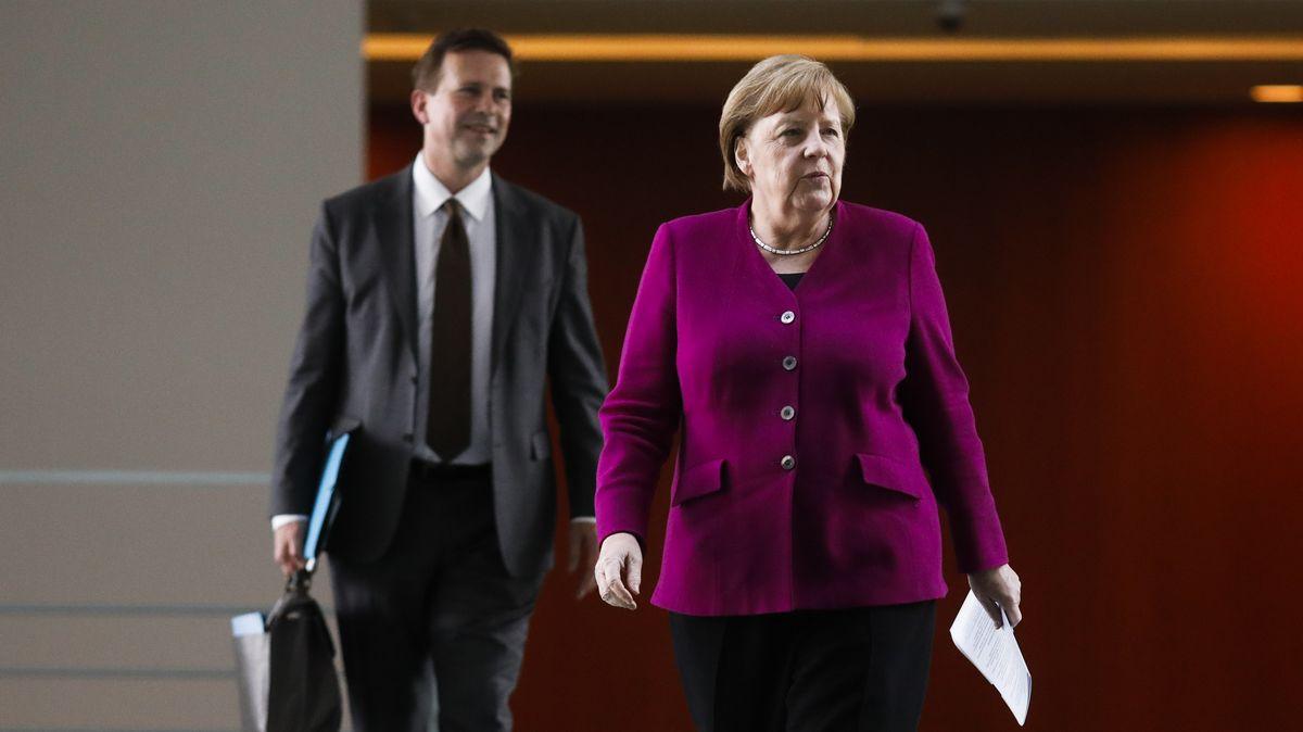 Bundeskanzlerin Angela Merkel am Mittwoch nach der Konferenz der Ministerpräsidenten und Regierungschefs der ostdeutschen Bundesländer.