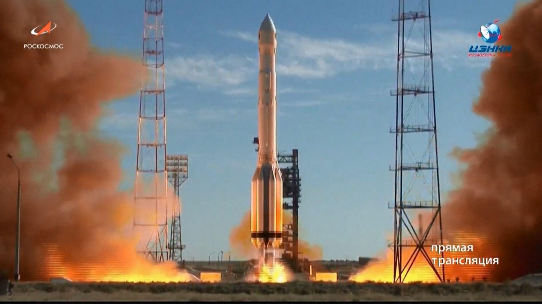 """Das deutsche Röntgenteleskop """"eRosita"""" ist beim Start mit einer russischen Trägerrakete in Kasachstan"""