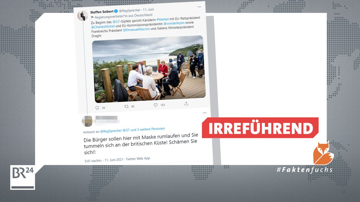 Unter dem Bild, das Regierungssprecher Steffen Seibert twittert, sammeln sich wütende Kommentare wie dieser.