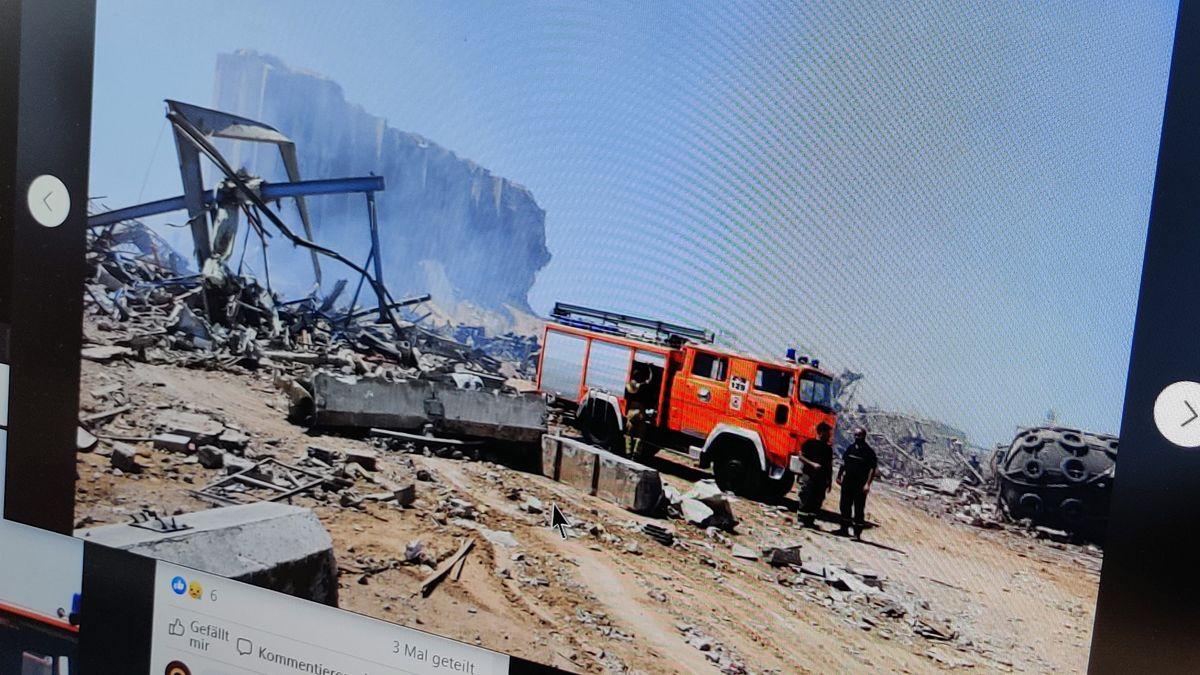 Die Facebook-Gruppe mit Fotos des Feuerwehrfahrzeugs