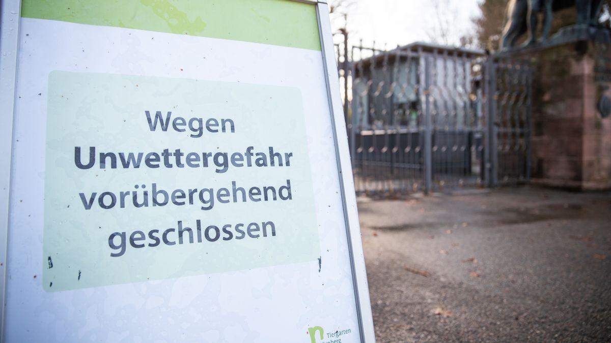 Der Nürnberger Tiergarten blieb wegen des Sturms geschlossen