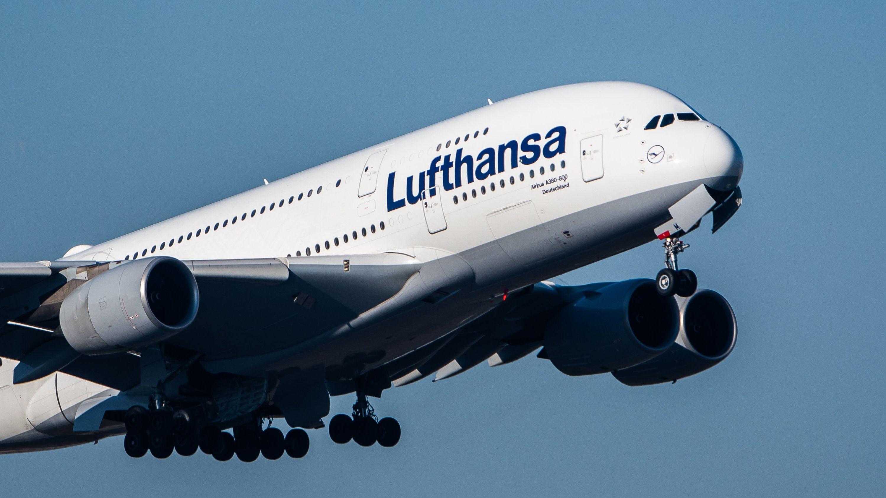 Ein Airbus der Lufthansa.