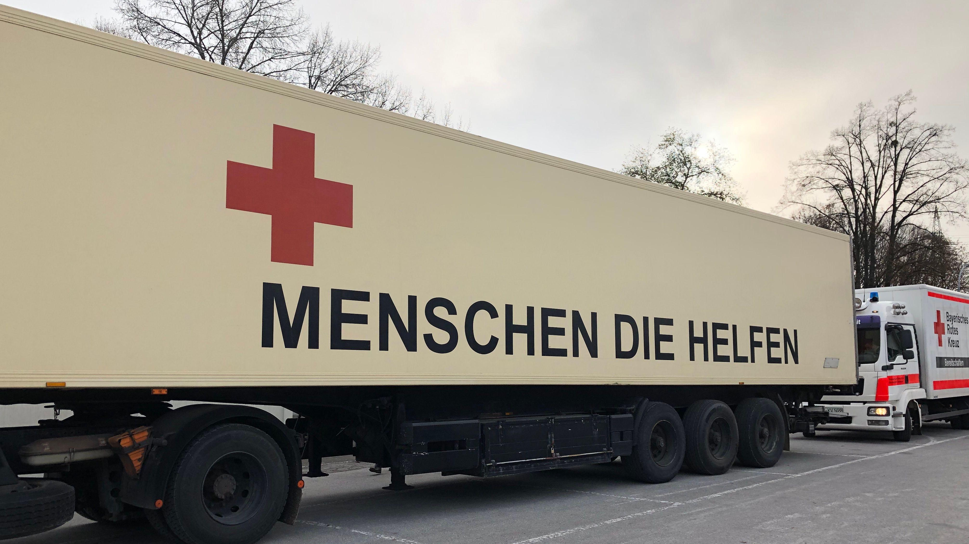 Hilfskonvoi für Menschen in Bosnien und Herzegowina.