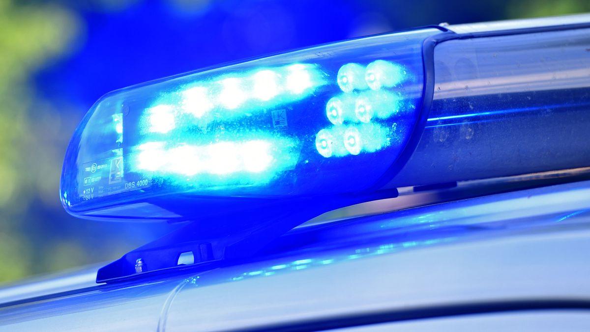 Blaulicht bei einem Polizeieinsatz